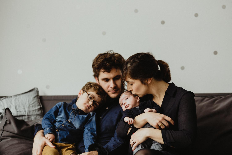 photo de famille pleine d'amour