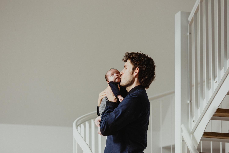 Photo nouveau né avec papa