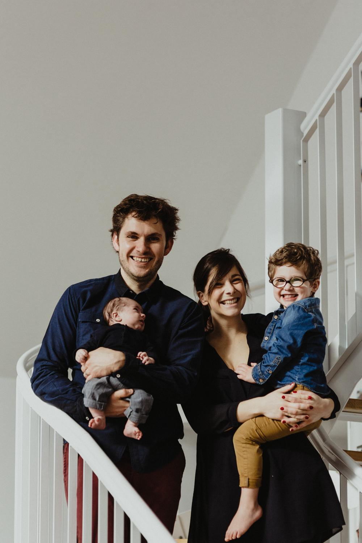 photo de famille avec le sourire