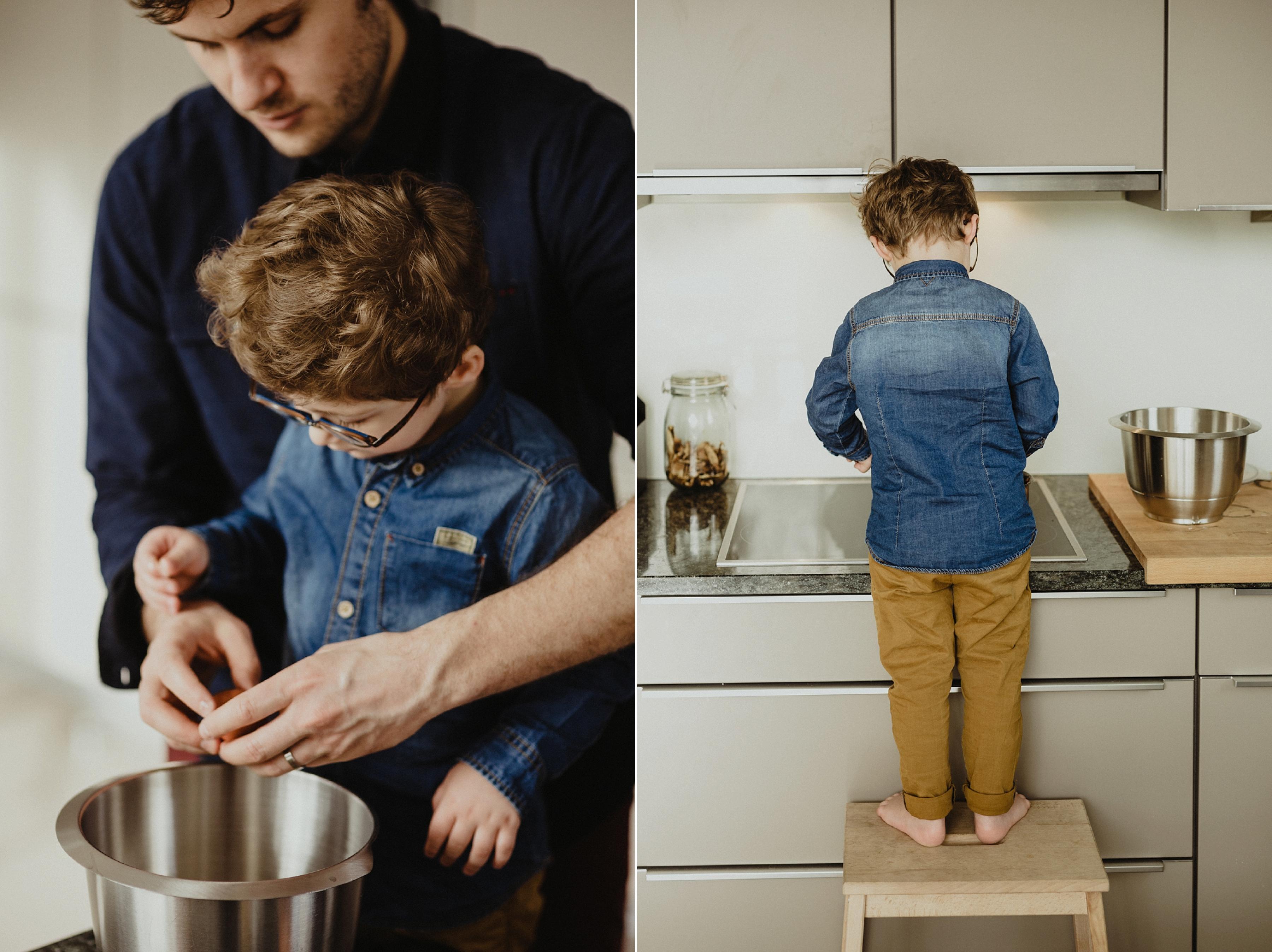 séance photo famille a la cuisine