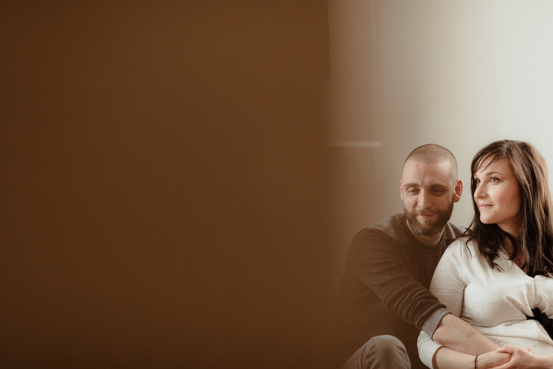 photo de couple, futurs parents
