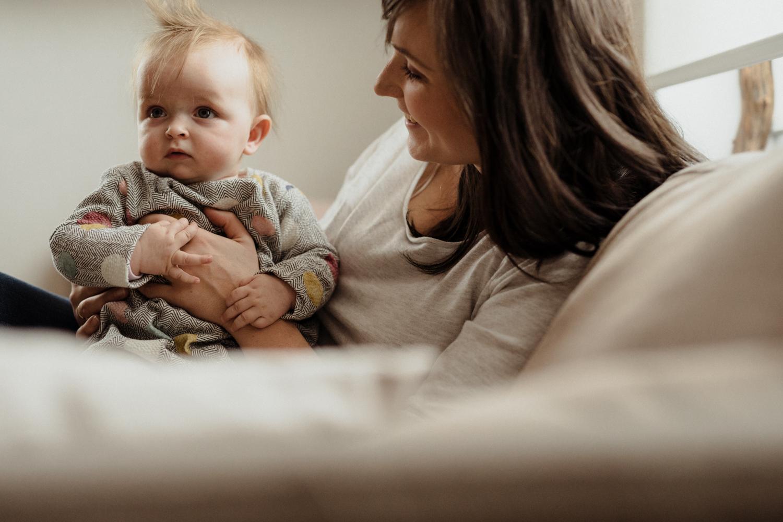 shooting nouveau né avec maman